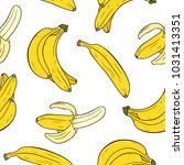 seamless pattern with bananas...   Shutterstock .eps vector #1031413351