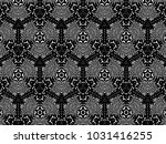 ornament with elements of black ... | Shutterstock . vector #1031416255