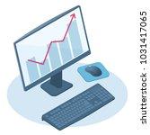 flat isometric illustration of... | Shutterstock .eps vector #1031417065