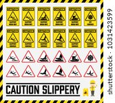 set of safety caution signs and ... | Shutterstock .eps vector #1031423599