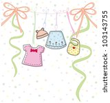 baby clothes | Shutterstock .eps vector #103143755