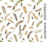 vector seamless pattern. floral ... | Shutterstock .eps vector #1031439811
