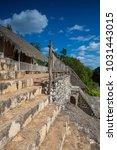 majestic ruins in ek balam. ek... | Shutterstock . vector #1031443015