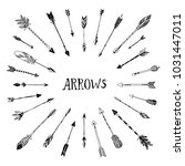decorative arrows collection.... | Shutterstock . vector #1031447011