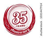35 years anniversary.... | Shutterstock .eps vector #1031447914