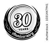 30 years anniversary....   Shutterstock .eps vector #1031447941