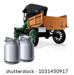 vector retro delivery milk...   Shutterstock .eps vector #1031450917