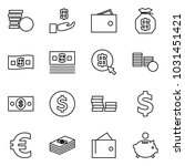 flat vector icon set   coins... | Shutterstock .eps vector #1031451421