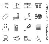 flat vector icon set   comments ... | Shutterstock .eps vector #1031454334
