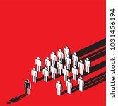 symbolic of social pressure... | Shutterstock .eps vector #1031456194