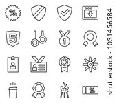 flat vector icon set   percent... | Shutterstock .eps vector #1031456584