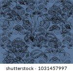 paisley watercolor ethnic... | Shutterstock . vector #1031457997