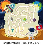 puzzle game template with... | Shutterstock .eps vector #1031459179