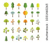 vector tree images   | Shutterstock .eps vector #1031460265