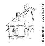 venetian roof hand drawn sketch ... | Shutterstock .eps vector #1031461645