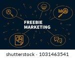 business illustration showing... | Shutterstock . vector #1031463541