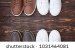 various pairs of colorful... | Shutterstock . vector #1031464081