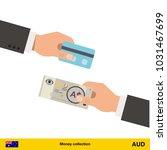 hand giving  australian dollar...   Shutterstock .eps vector #1031467699