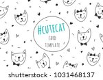 smile cute cat faces  vector... | Shutterstock .eps vector #1031468137