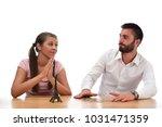 beautiful couple saving money...   Shutterstock . vector #1031471359