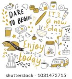 set of cute doodle isolated on... | Shutterstock .eps vector #1031472715