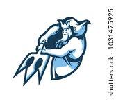 poseidon e sport logo | Shutterstock .eps vector #1031475925