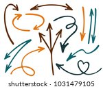 hand drawn diagram arrow icons... | Shutterstock .eps vector #1031479105