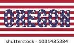 Oregon On Usa Flag