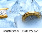 frozen new british one pound... | Shutterstock . vector #1031492464