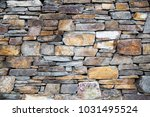 old stone wall | Shutterstock . vector #1031495524