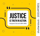 vectors quote. justice is truth ... | Shutterstock .eps vector #1031495851