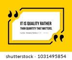 vectors quote.  it is quality... | Shutterstock .eps vector #1031495854