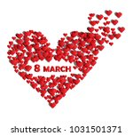 red hearts background with text ... | Shutterstock .eps vector #1031501371