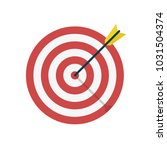 target with arrow icon.... | Shutterstock .eps vector #1031504374