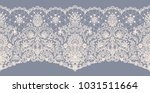 horizontally seamless gray lace ... | Shutterstock . vector #1031511664