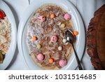 interesting salad with eggs  | Shutterstock . vector #1031514685