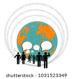 computer graphic of social... | Shutterstock .eps vector #1031523349