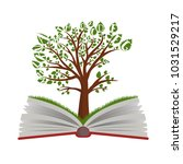 knowledge tree from open book... | Shutterstock .eps vector #1031529217