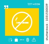 no smoking  smoking ban icon.... | Shutterstock .eps vector #1031530039