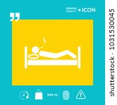 smoking in bed icon | Shutterstock .eps vector #1031530045