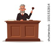 judge character with hammer.... | Shutterstock .eps vector #1031532814