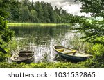 boats on the lake p haj rv  ... | Shutterstock . vector #1031532865