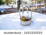 oil and vinegar set on the... | Shutterstock . vector #1031533555