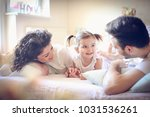 family time at morning.  | Shutterstock . vector #1031536261