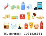 travel necessities sett  first... | Shutterstock .eps vector #1031536951