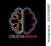 creative brain logo | Shutterstock .eps vector #1031539387