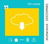 download from cloud | Shutterstock .eps vector #1031539681