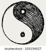 ying yang sketch symbol | Shutterstock .eps vector #103154027