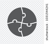 simple icon circle puzzle in... | Shutterstock .eps vector #1031544241