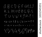 vector fonts   handwritten... | Shutterstock .eps vector #1031545351